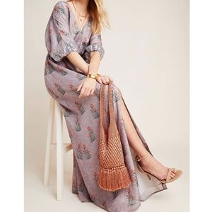 NWT ANTHROPOLOGIE Sequined Maxi Dress 6